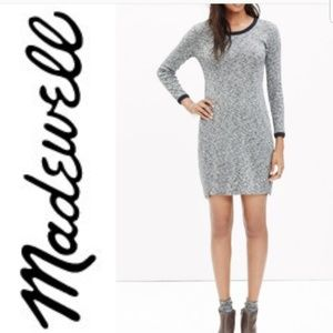 Madewell ribbed knit dress salt and pepper M